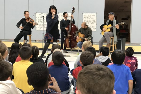 The Hot Club, a Gypsy Jazz Revival Band, Performs at Brubaker