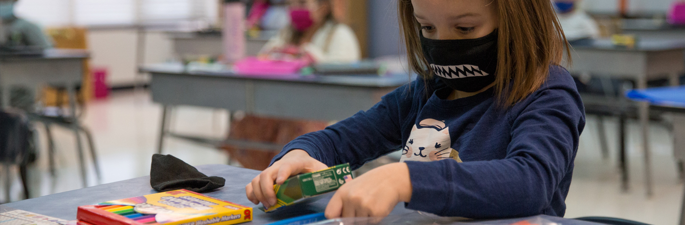 Brubaker Student Wearing Mask
